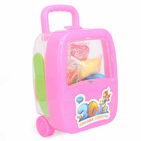 Luggage Clay Box For Kids - Pink