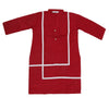 Girls Full Sleeves Lace Khaddar Kurti D-3 - Maroon