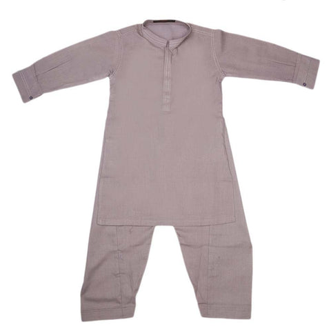 Boys Kurta Shalwar Suit - Light Purple