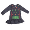 Girls Full Sleeves Embroidered Kurti 6B-238A - Blue