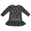 Girls Full Sleeves Embroidered Kurti 6B-238A - Navy Blue