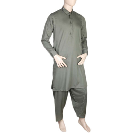 Fancy Shalwar Suit For Men - Green