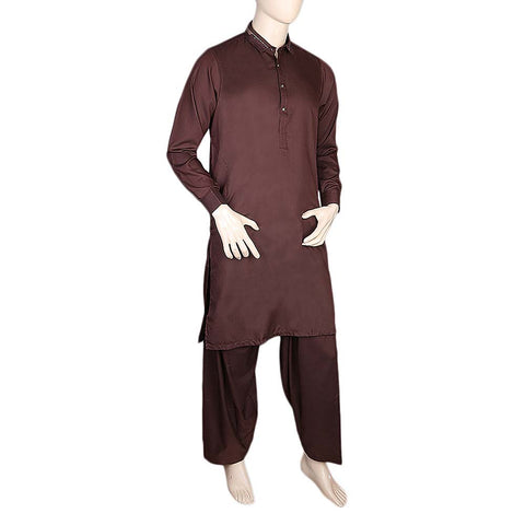 Fancy Shalwar Suit For Men - Maroon