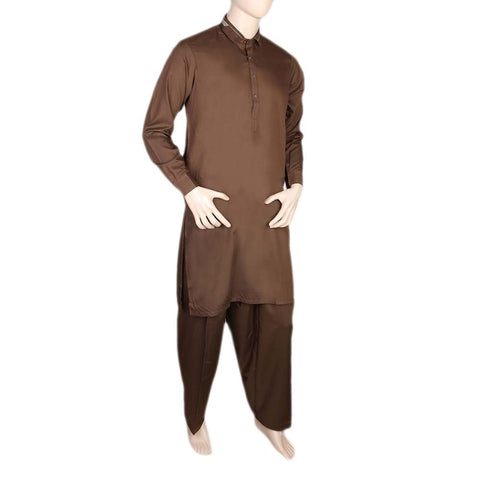 Fancy Shalwar Suit For Men - Brown