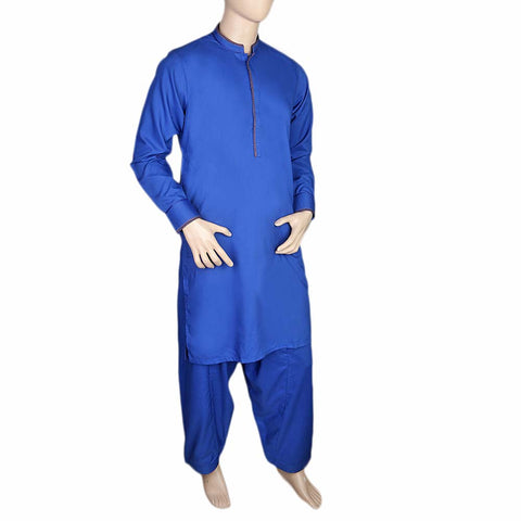 Fancy Shalwar Suit For Men - Royal Blue