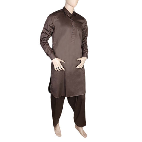 Eminent Kameez Shalwar For Men - Brown