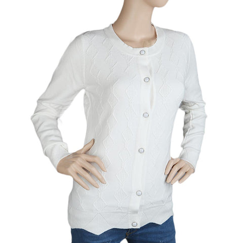 Eminent's Full Sleeves Sweater For Women - White