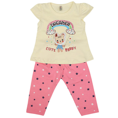 Girls Lycra Suit - Fawn