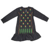 Girls Embroidered Kurti - Navy Blue