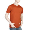 Men's Half Sleeves Round Neck T-Shirt - Rust