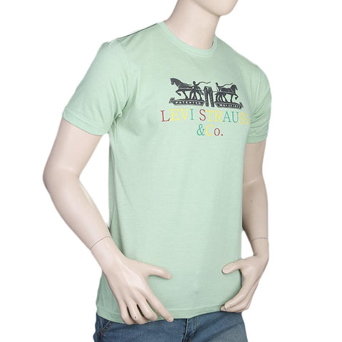 Men's Half Sleeves Round Neck T-Shirt - Green