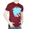Men's Half Sleeves Round Neck T-Shirt - Maroon