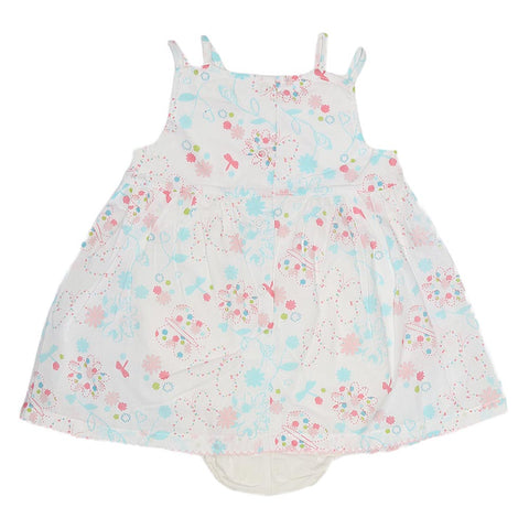 New Born Girls Romper - White