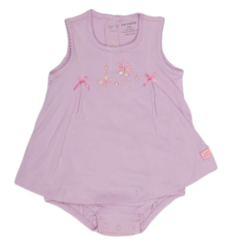 New Born Girls Romper - Purple