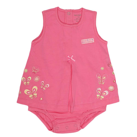New Born Girls Romper - Pink