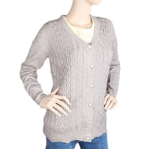 Eminent's Full Sleeves Sweater For Women - Grey