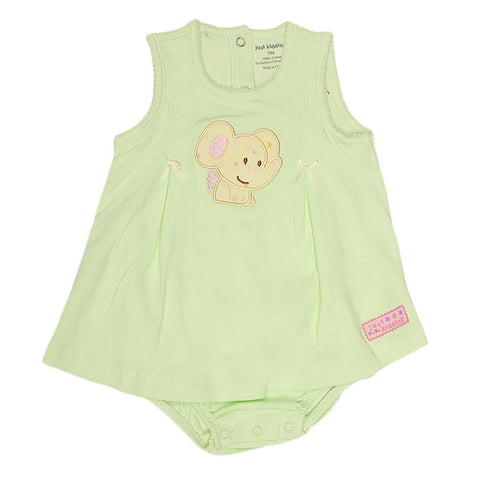 New Born Girls Romper - Green