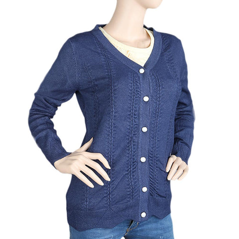 Eminent's Full Sleeve Sweater For Women - Navy Blue