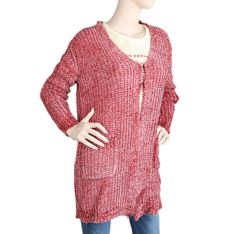 Eminent Full Sleeves Sweater For Women (1775) - Peach