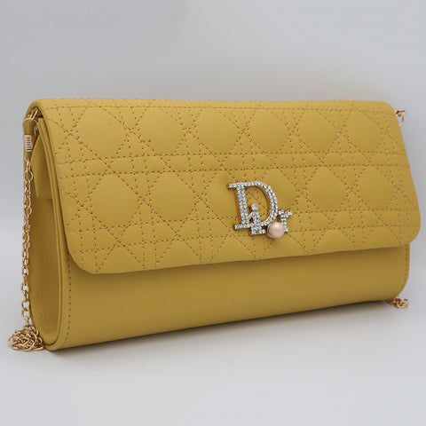 Women's Fancy Clutch 6960 - Mustard