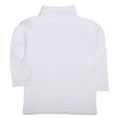 Boys Full Sleeves High-Neck - White