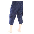 Men's Printed Short - Navy Blue