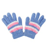 Women's Woolen Fur Gloves - Blue