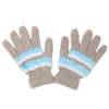 Women's Woolen Fur Gloves - Beige