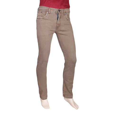 Men's Slim Fit Jeans Pant - Beige