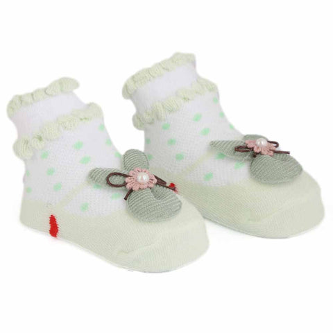 Newborn Booties - Light Green