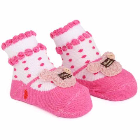 Newborn Booties - Dark Pink