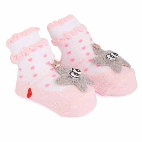 Newborn Booties - Light Pink
