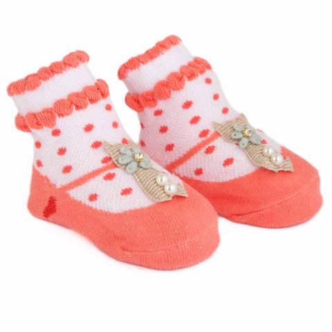 Newborn Booties - Peach