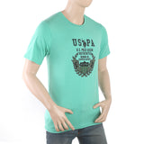 Men's Half Sleeves Printed T-Shirt - Green