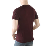 Men's Half Sleeves Printed T-Shirt - Maroon