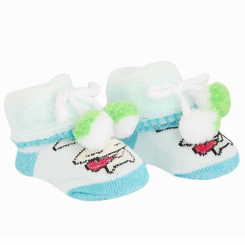Newborn Booties - Sky Blue