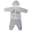 Newborn Boys Full Sleeves Suit - Grey