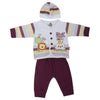 Newborn Boys Full Sleeves Suit - Purple