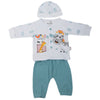 Newborn Boys Full Sleeves Suit - Sea-Green