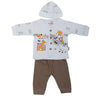 Newborn Boys Full Sleeves Suit - Coffee