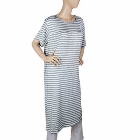 Women's Long Nighty - Grey