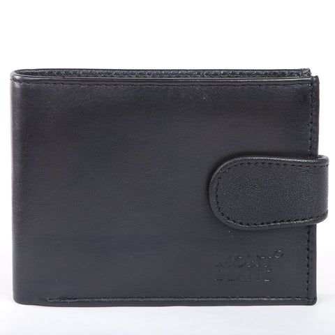 Men's Leather Wallets W-CV-02 - Black