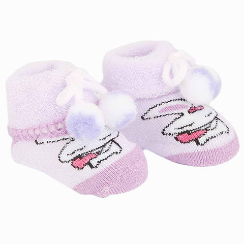 Newborn Booties - Purple