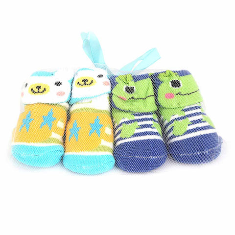 Newborn Booties 2 Pcs - Multi