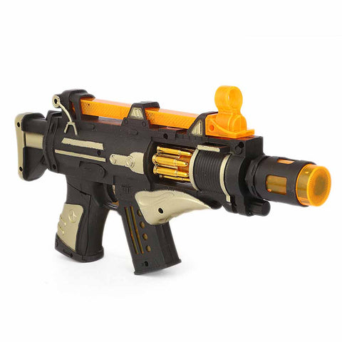 Lighting  & Sound Gun For Kid - Golden