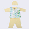 Newborn Boys Full Sleeves Polar Suit - Lemon