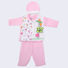Newborn Boys Full Sleeves Polar Suit - Pink