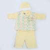 Newborn Boys Full Sleeves Polar Suit - Yellow