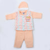 Newborn Boys Full Sleeves Polar Suit - Peach