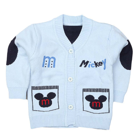 Newborn Boys Full Sleeves Sweater - Blue